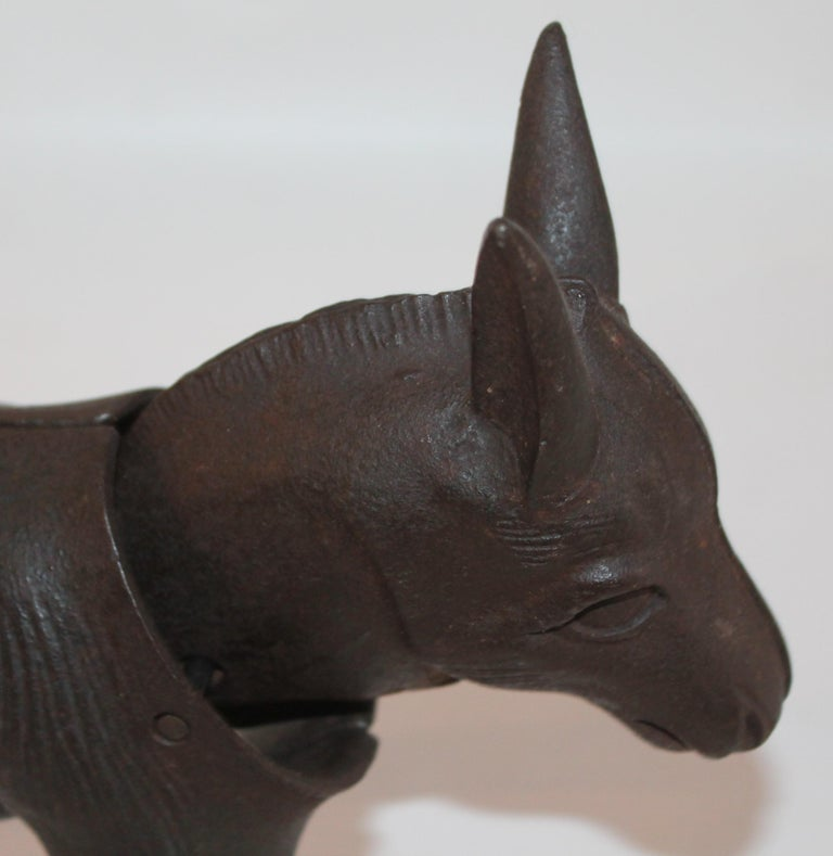 19Thc Donkey Door Stop with Nodder Head In Excellent Condition For Sale In Los Angeles, CA