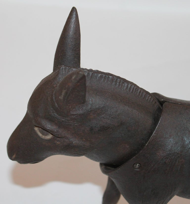 20th Century 19Thc Donkey Door Stop with Nodder Head For Sale