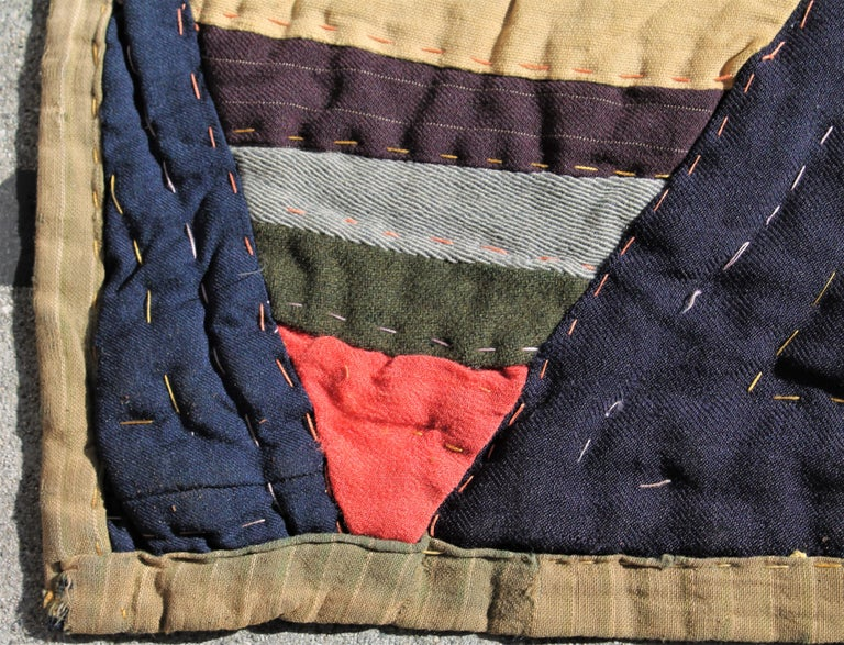 19th Century Afro-American Roman Stripes Quilt For Sale