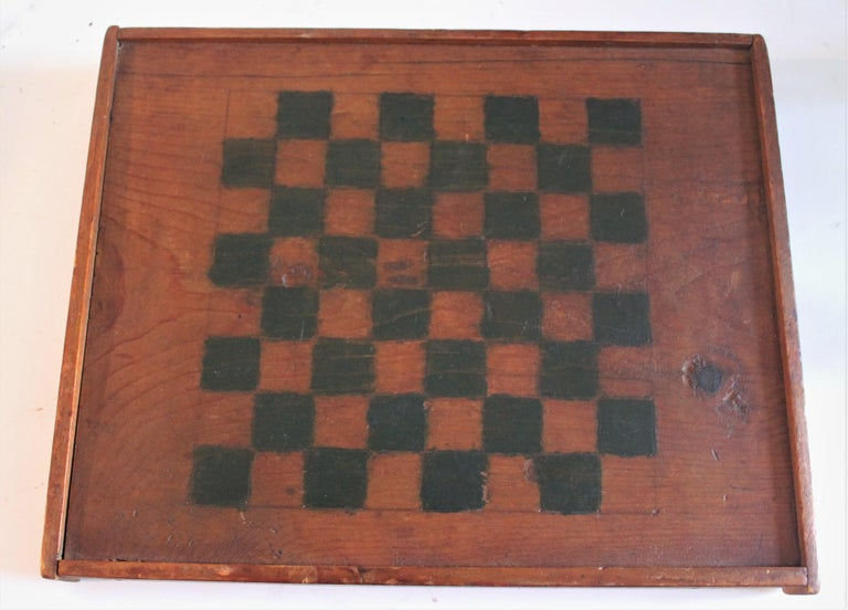 American 19th Century Original Painted and Signed Gameboard from Pennsylvania For Sale