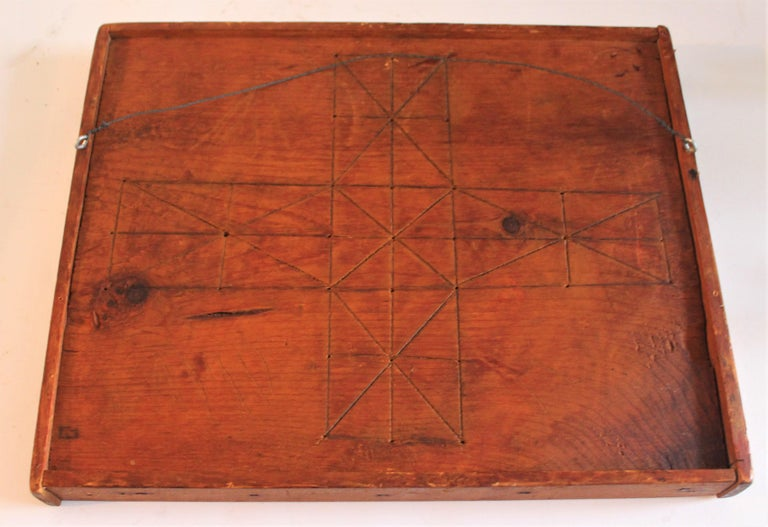19th Century Original Painted and Signed Gameboard from Pennsylvania For Sale 4