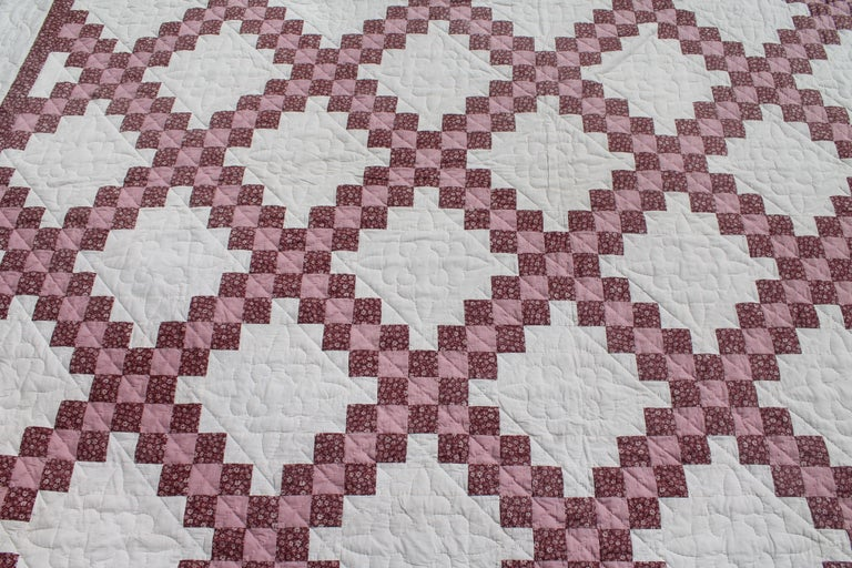 American Irish Chain Quilt King Size For Sale