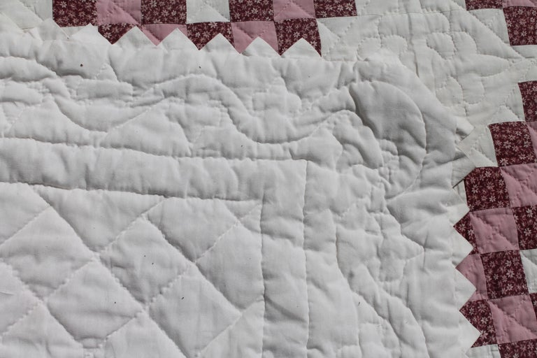 Irish Chain Quilt King Size For Sale 2