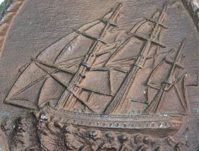 Nautical Ship Iron  Door Stop In Excellent Condition For Sale In Los Angeles, CA