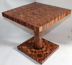 Inlaid Folk Art Side Table