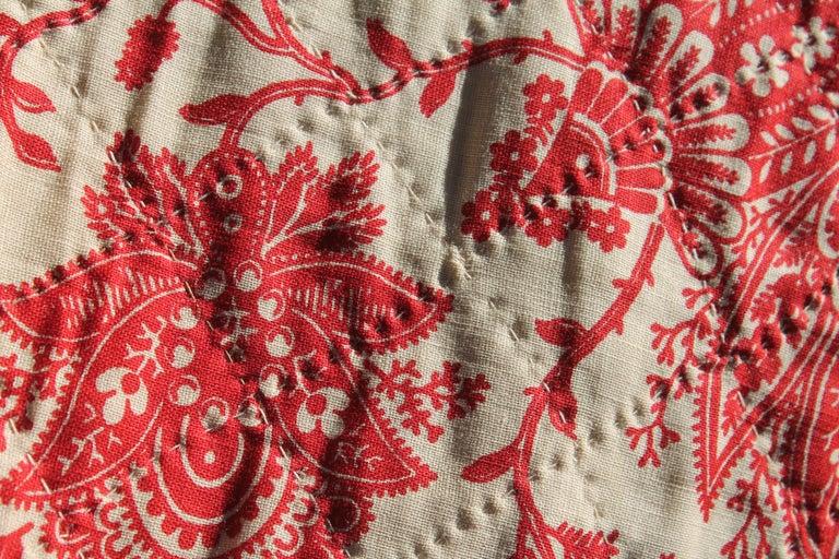 American Antique Quilt, 19th Century Bandana Quilt For Sale