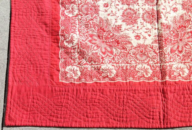 Antique Quilt, 19th Century Bandana Quilt For Sale 1