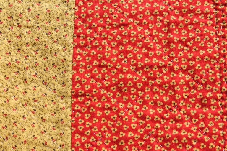 Antique Quilt, 19th Century Bandana Quilt For Sale 3