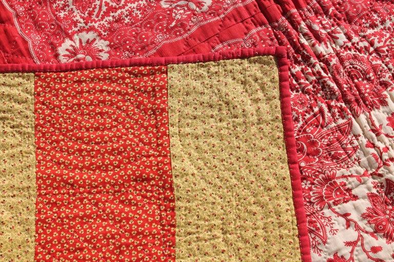 Antique Quilt, 19th Century Bandana Quilt For Sale 2