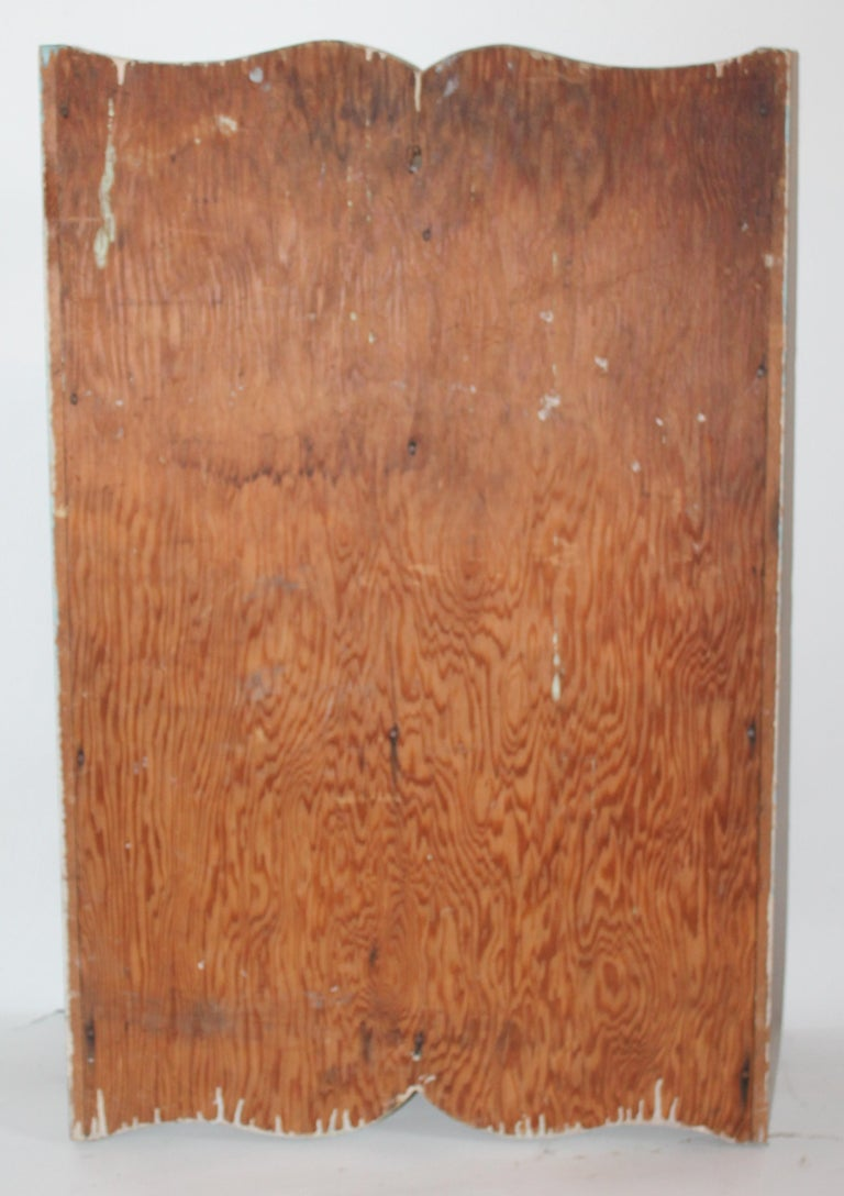 Early 20th Century Original Painted Medicine Cabinet For Sale 1