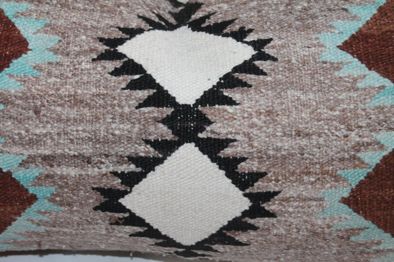 20th Century Navajo Indian Weaving Bolster Pillows For Sale