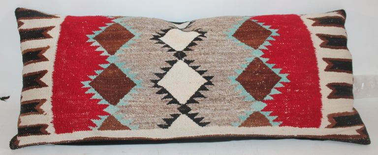 American Navajo Indian Weaving Bolster Pillows For Sale