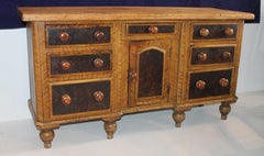19th Century Pinewood Multi Drawer Credenza