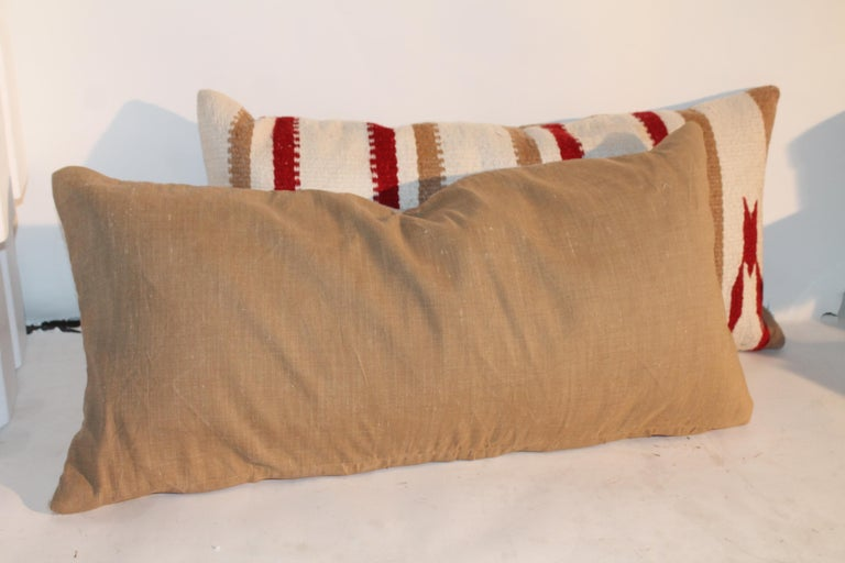 Navajo Saddle Blanket Pillows, Pair In Excellent Condition For Sale In Los Angeles, CA