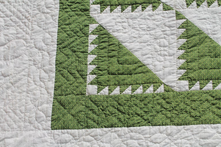 Country Antique Quilt 19th Century Delectable Mountains Quilt For Sale