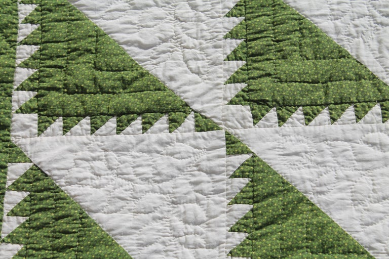 American Antique Quilt 19th Century Delectable Mountains Quilt For Sale