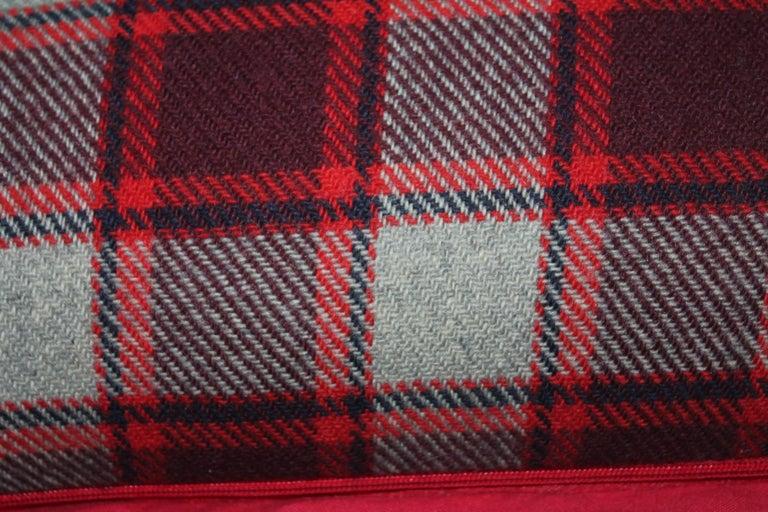 Adirondack Wool Blanket Plaid Blanket, Pair For Sale
