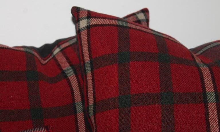 American Wool Blanket Plaid Blanket, Pair For Sale
