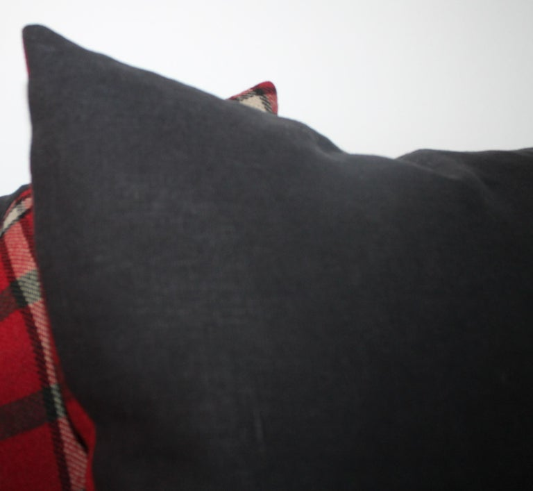 Wool Blanket Plaid Blanket, Pair In Excellent Condition For Sale In Los Angeles, CA