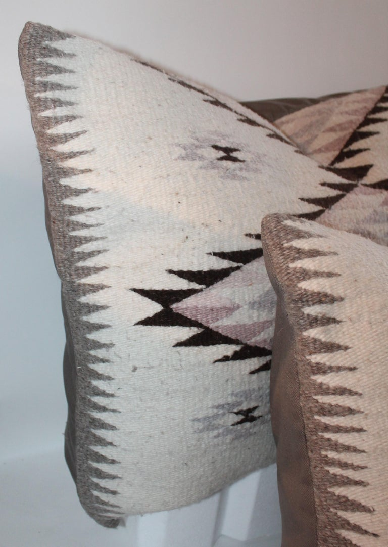 Other Navajo Indian Weaving Large Pillows or Pair For Sale