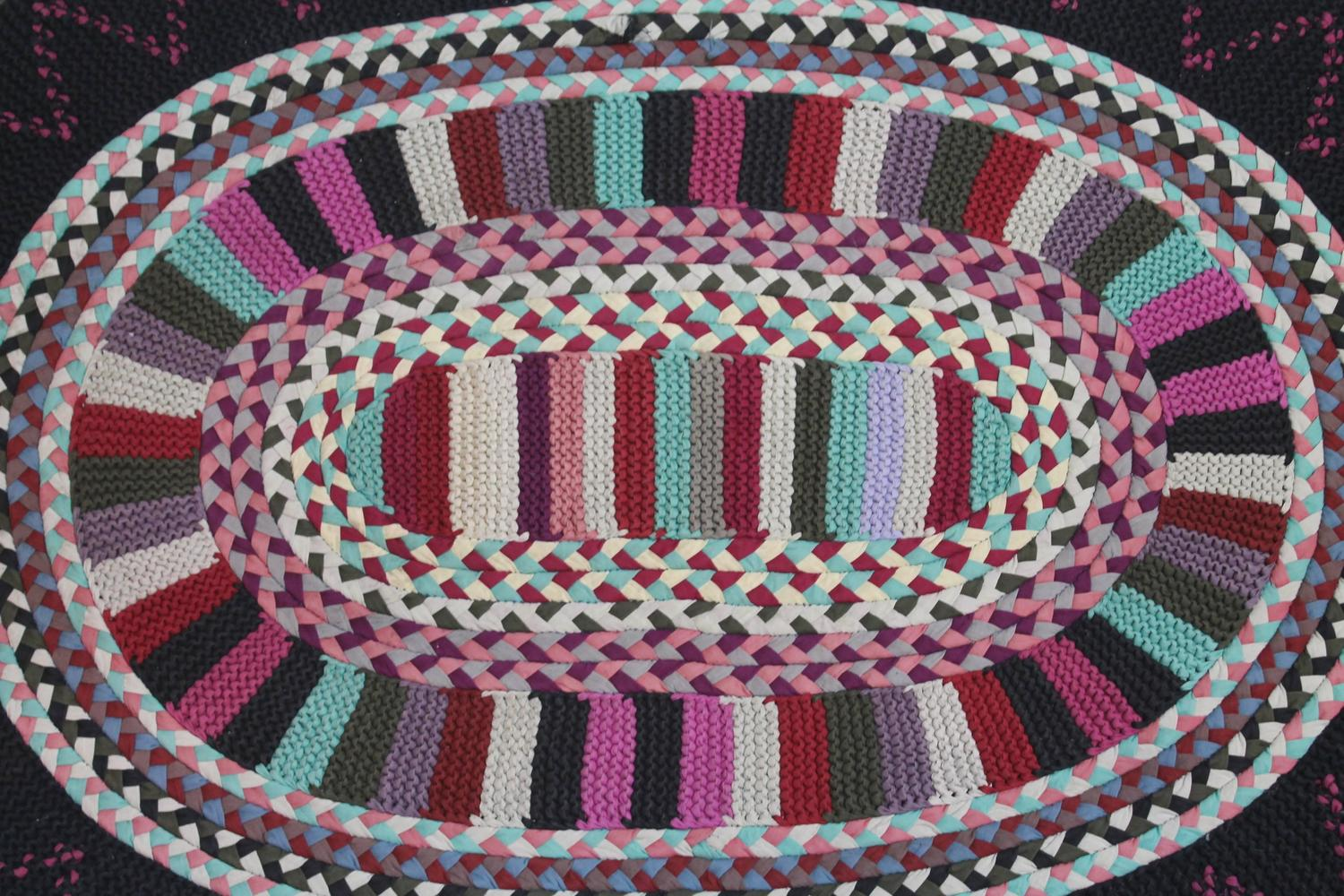 Early 20th Century Braided Amish Rug From Pennsylvania For