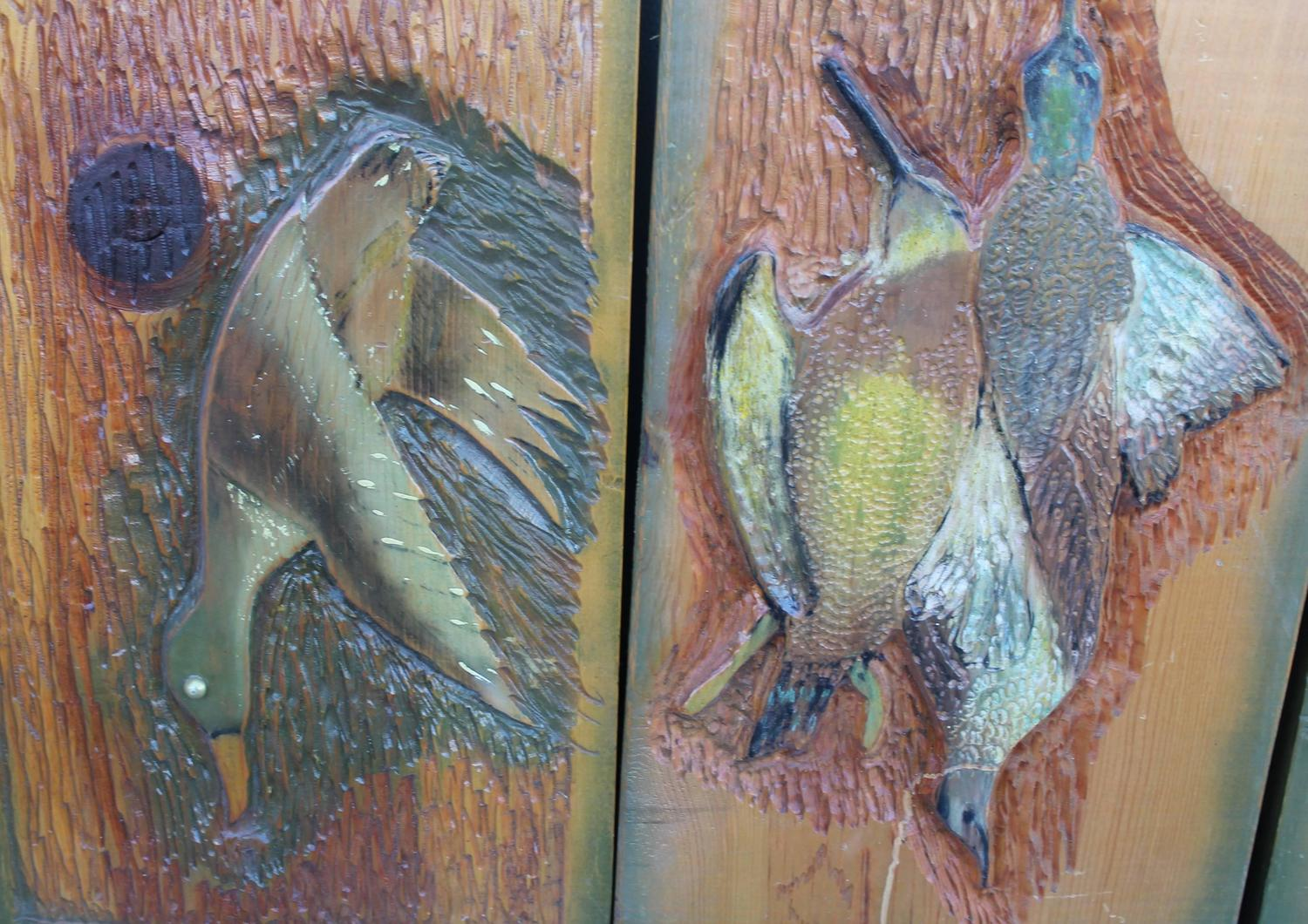 Collection of four game and fish carvings for sale at stdibs