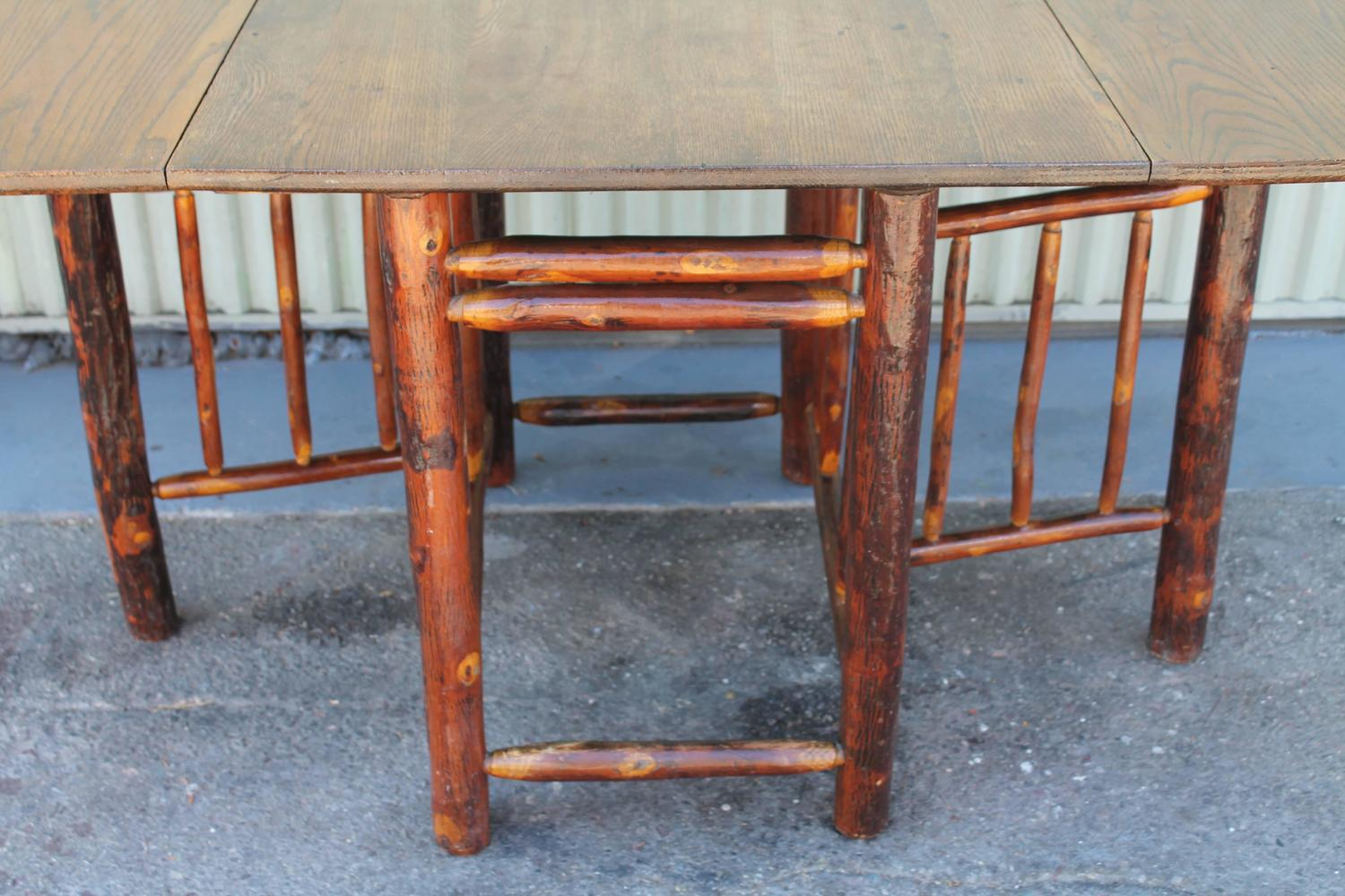 1930s Monumental Drop Leaf Old Hickory Table For Sale At 1stdibs
