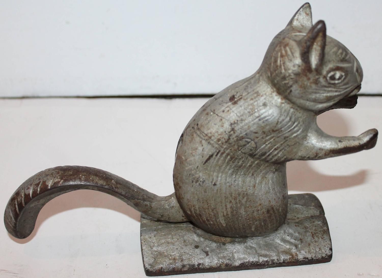 19th century zinc painted cast iron squirrel nut cracker for sale at 1stdibs - Squirrel nut crackers ...