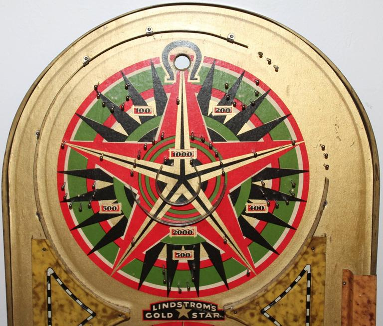 Lindstrom S Gold Star Marble Game Board Dated 1934 For