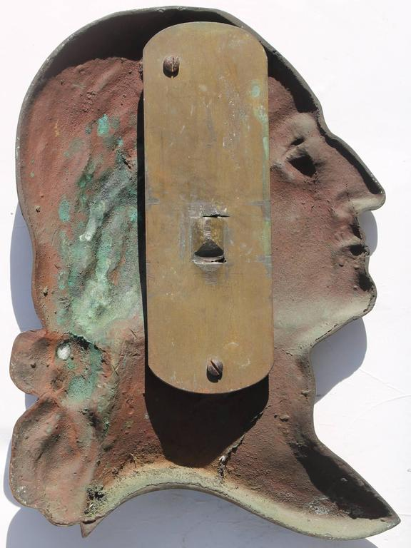 Patinated 19th Century Bronze Plaque of George Washington For Sale