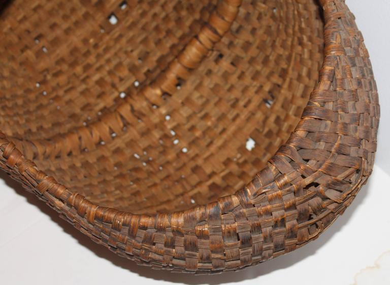Hand-Crafted Monumental 19th Century Gathering Buttocks Basket For Sale