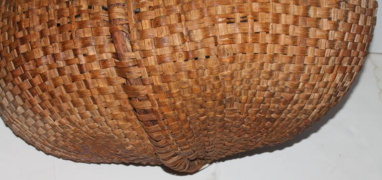 Monumental 19th Century Gathering Buttocks Basket For Sale 1