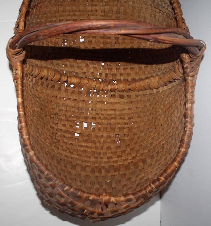 American Monumental 19th Century Gathering Buttocks Basket For Sale