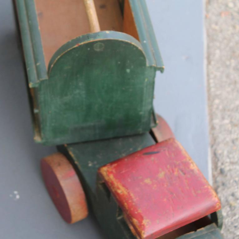 20th Century Handmade Folky Original Painted Truck For Sale