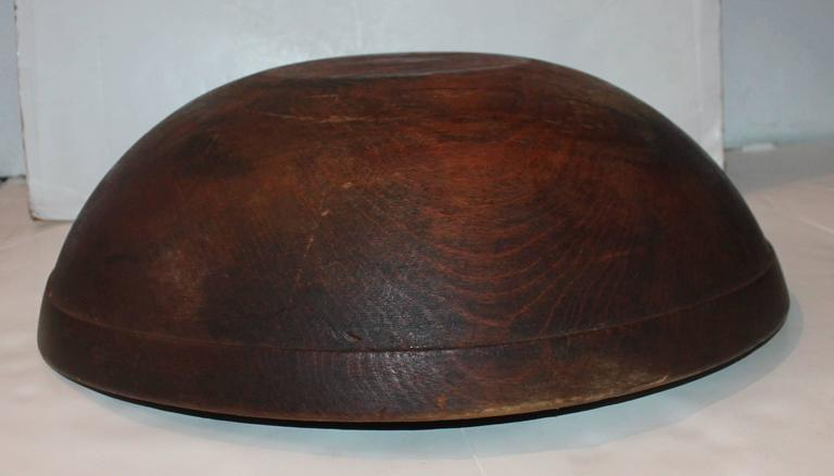 Patinated Large 19th Century Butter Bowl from New England For Sale