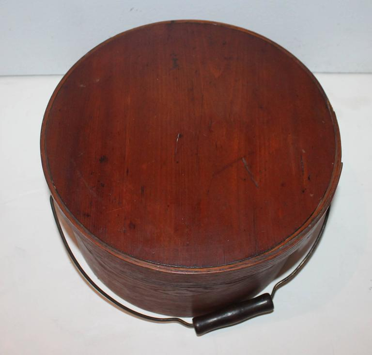 Pantry Boxes For Sale: Group Of Two 19th Century Bail Handled Pantry Boxes From
