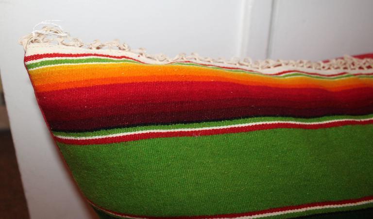 American Pair of Monumental Serape Bolster Pillows For Sale