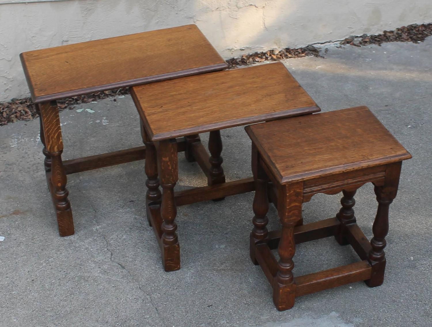 Set of three 19th century nesting tables at 1stdibs for Table th means