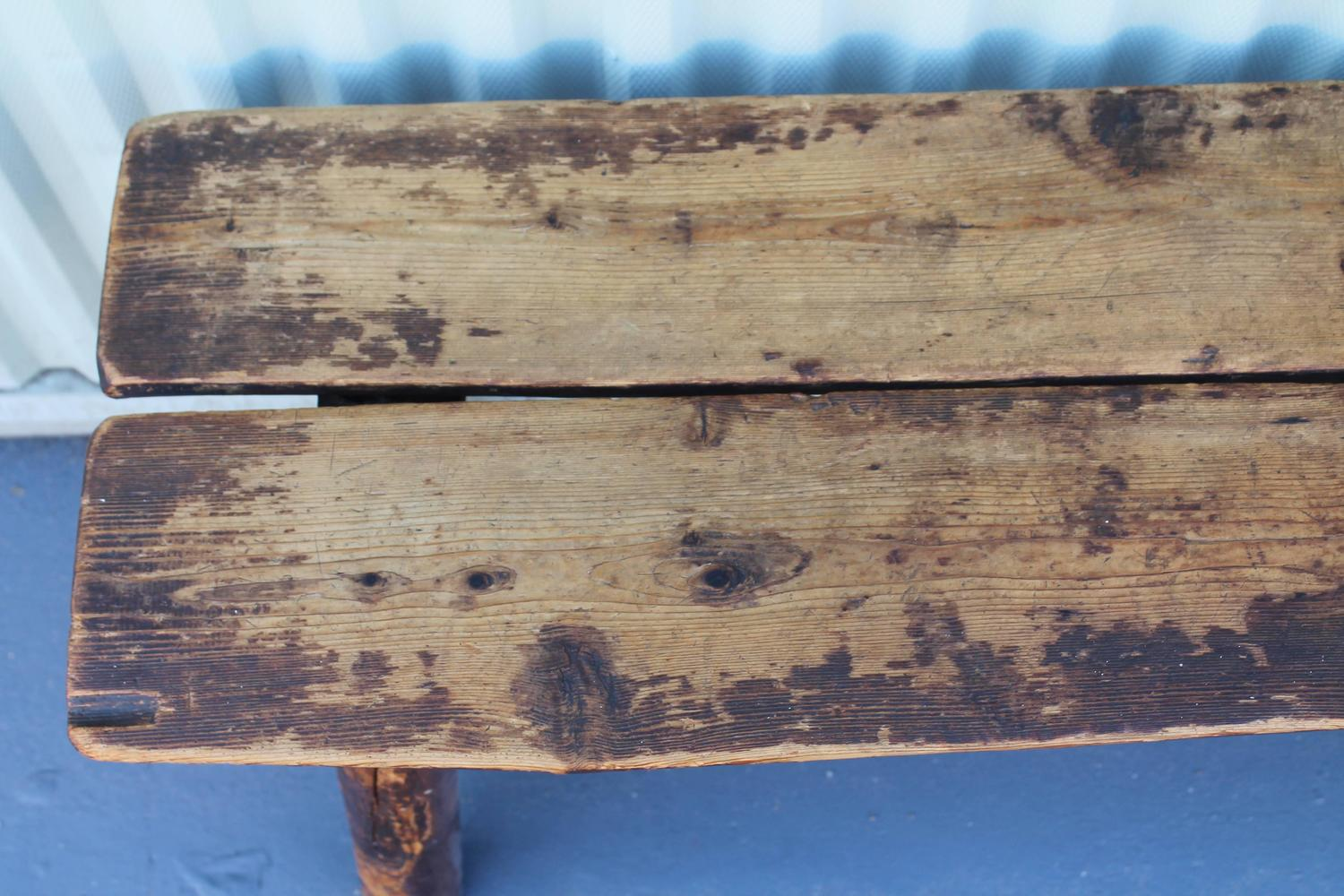 Fantastic Split Log Pine And Hickory Bench At 1stdibs. Full resolution‎  file, nominally Width 1500 Height 1000 pixels, file with #31739A.