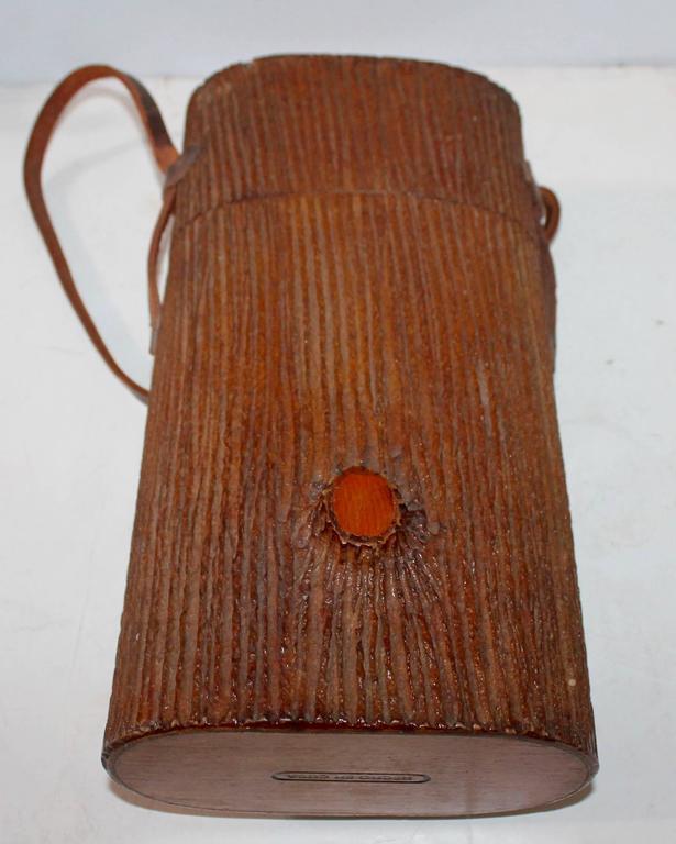 Hand-Crafted Monumental Cuban Bark Covered Cigar Shoulder Bag For Sale