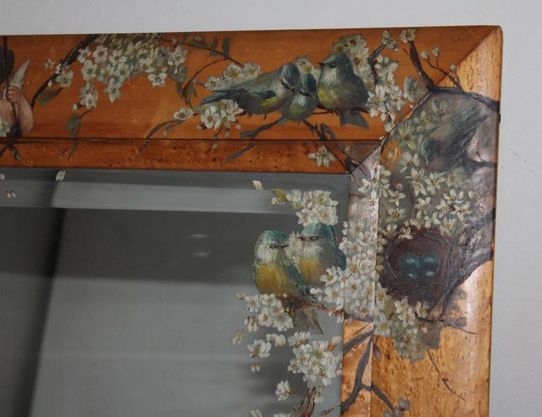 19th Century Monumental Original Hand Painted Bird S Eye