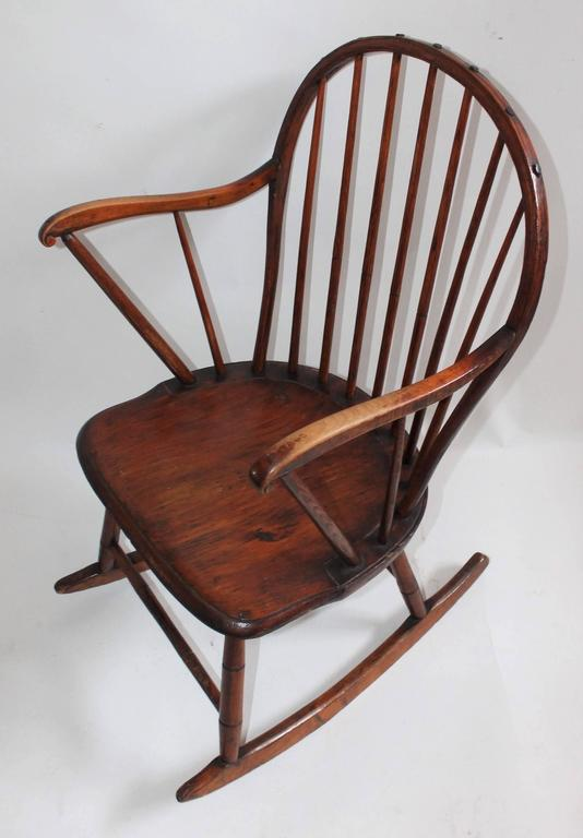 Extended Arm Windsor Rocking Chair