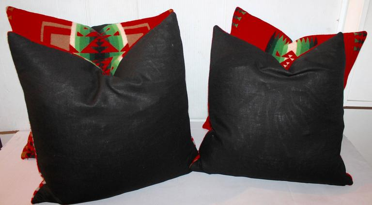 Adirondack Pendleton Indian Design Camp Blanket Pillows For Sale