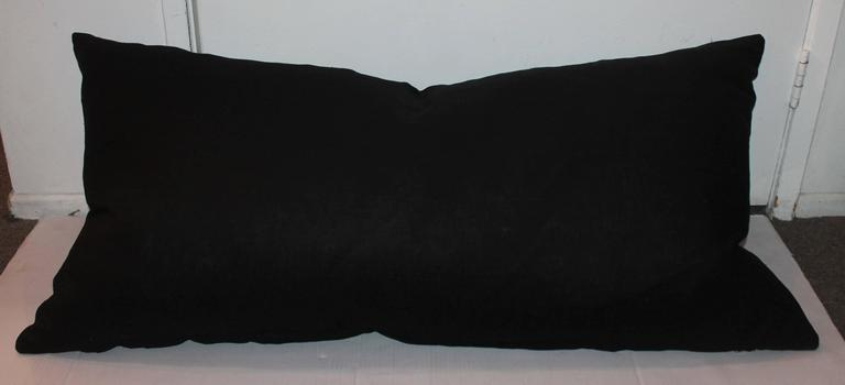 American Monumental Mexican Serape Weaving Bolster Pillow For Sale