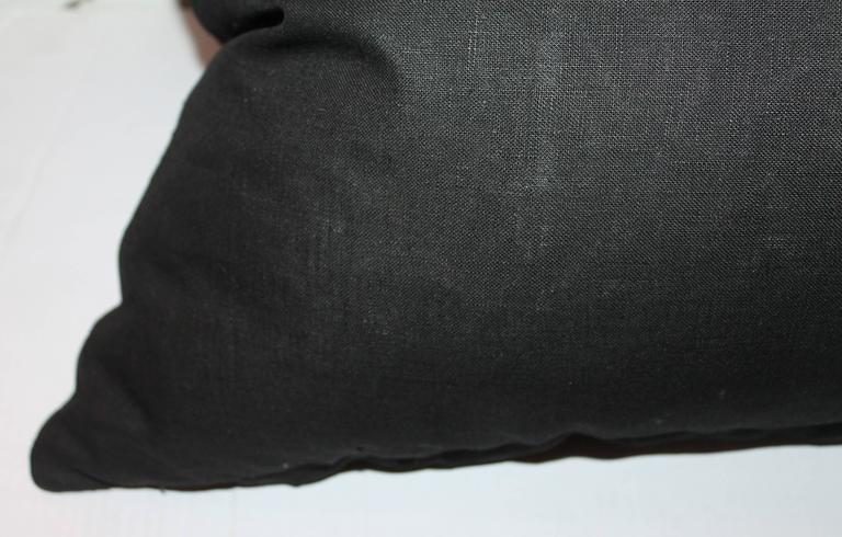Hand-Woven Monumental Mexican Serape Weaving Bolster Pillow For Sale