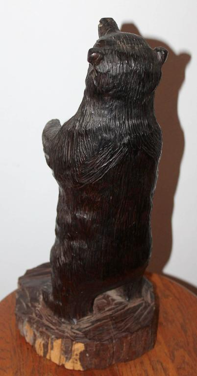 Hand carved american black bear for sale at stdibs