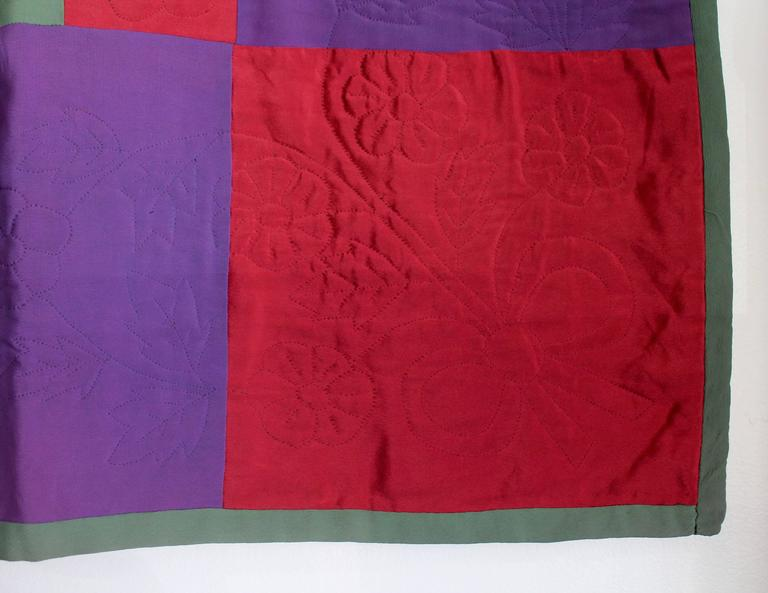 American Amish Lancaster Co., Pennsylvania Diamond in a Square Quilt For Sale