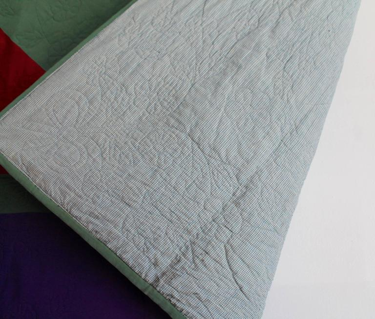Amish Lancaster Co., Pennsylvania Diamond in a Square Quilt In Good Condition For Sale In Los Angeles, CA