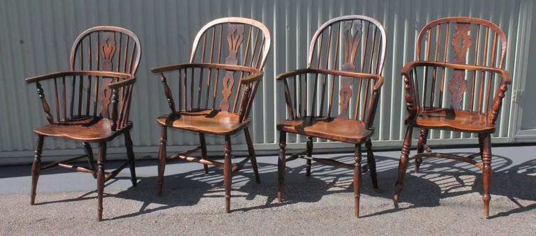 Set Of Six Early 19th Century English Windsor Chairs At
