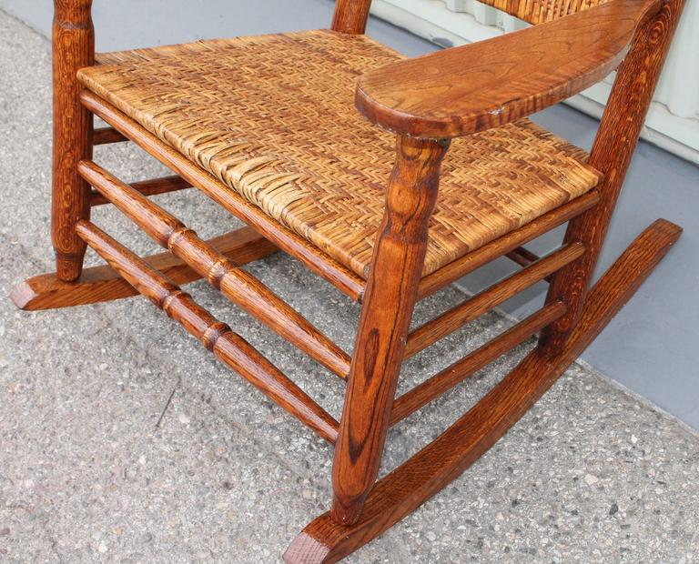 Early 20th Century Adirondack Rocking Chair At 1stdibs